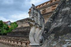 Estátua do dragão da arte no templo de Tailândia Foto de Stock Royalty Free