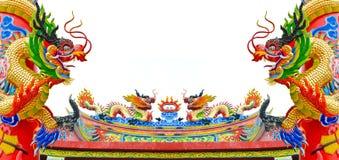 Estátua do dragão do estilo chinês Imagens de Stock Royalty Free