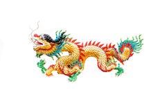 Estátua do dragão do estilo chinês Fotos de Stock Royalty Free