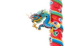 Estátua do dragão do estilo chinês Imagem de Stock Royalty Free