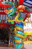 Estátua do dragão do estilo chinês Fotografia de Stock Royalty Free