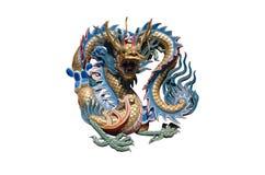 Estátua do dragão do estilo chinês Foto de Stock Royalty Free