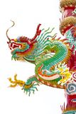 Estátua do dragão no templo chinês Fotos de Stock