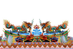 Estátua do dragão no templo chinês Foto de Stock Royalty Free
