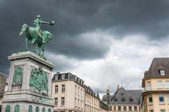 Estátua do duque grande William II, Luxembourg imagens de stock royalty free