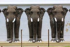 Estátua do elefante do ` s de Anuradhapura Ruwanwelisaya Stupa, patrimônio mundial do UNESCO de Sri Lanka Foto de Stock