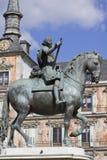 Estátua do equestrian de Philip III fotografia de stock