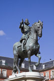 Estátua do equestrian de Philip III foto de stock royalty free