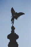 Estátua do Eros no circo de Picadilly, Londres imagem de stock
