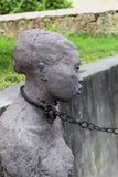Estátua do escravo em Zanzibar imagem de stock royalty free