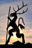 Estátua do espírito da montanha em Karkonosze, Polônia Fotos de Stock