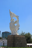 Estátua do estádio dos trabalhadores do Pequim fotografia de stock royalty free