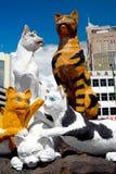 A estátua do gato Imagens de Stock