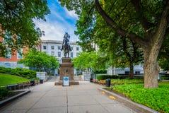Estátua do general Joseph Hooker, fora do estado de Massachusetts fotos de stock