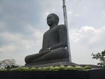 Estátua do granito de Lord Buddha imagens de stock