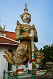 Estátua do guardião no templo do alvorecer Imagem de Stock Royalty Free
