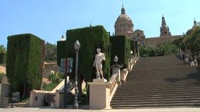 Estátua do homem, Barcelona, Espanha filme