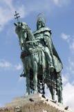 Estátua do imperador do St. Stephen em Budapest Fotos de Stock
