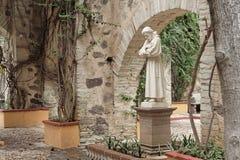 Estátua do jardim da fazenda Fotografia de Stock