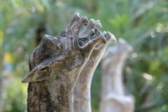 Estátua do jardim decorada no jardim fotos de stock