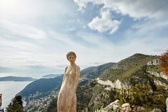 Estátua do jardim do cacto de Eze Imagens de Stock