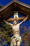 Estátua do Jesus Cristo crucified imagens de stock