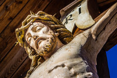 Estátua do Jesus Cristo crucified fotografia de stock