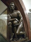 Estátua do jogador de futebol Foto de Stock Royalty Free