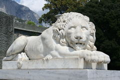 Estátua do leão imagens de stock