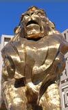 Estátua do leão de MGM Imagem de Stock