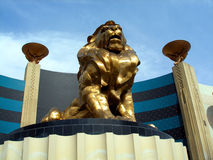 Estátua do leão, Mgm Grand Fotografia de Stock