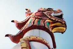 Estátua do leão no templo Fotos de Stock Royalty Free