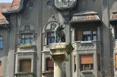 Estátua do lobo da revolução de Timisoara Imagens de Stock