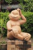 Estátua do macaco Fotos de Stock Royalty Free