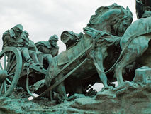 Estátua do memorial da guerra civil Fotos de Stock Royalty Free