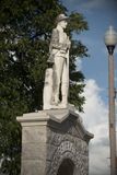Estátua do memorial de guerra civil dos soldados confederados fotografia de stock royalty free