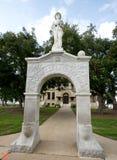 Estátua do memorial de guerra civil dos soldados confederados foto de stock