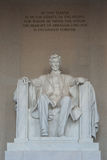 Estátua do memorial de Lincoln Foto de Stock