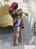 Estátua do mosaico de Miles Davis da trompetista do jazz fotografia de stock