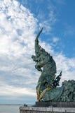 Estátua do Naga em Songkhla, Tailândia Imagens de Stock Royalty Free
