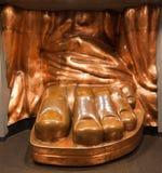 Estátua do pé New York City do cobre da liberdade Foto de Stock