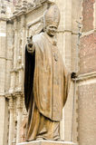 Estátua do papa John Paul II fotografia de stock royalty free