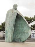 Estátua do papa John Paul II, Roma Fotografia de Stock