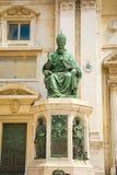 Estátua do papa Sixtus V , Casa Santa do della da basílica, local da peregrinação de Loreto, província de Ancona, Itália fotografia de stock royalty free