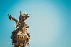 Estátua do pasha de Ibrahim foto de stock