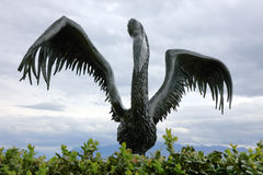 A estátua do pelicano, Lausana Imagem de Stock Royalty Free