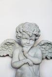 Estátua do pensamento do menino imagens de stock