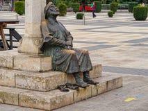 Estátua do peregrino - Leon imagens de stock royalty free
