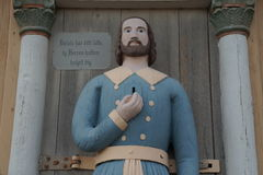 Estátua do pobre homem imagens de stock