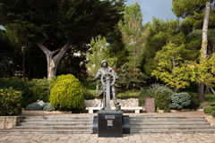 Estátua do príncipe Albert Eu em St Martin Gardens, Mônaco-Ville imagens de stock